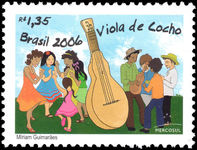 Brazil 2006 Musical Instruments unmounted mint.