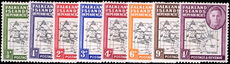Falkland Island Dependencies 1946-49 Thick Map set lightly mounted mint.