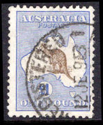 Australia 1915-27 £1 chocolate and dull blue narrow crown fine used.