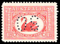Australia 1929 Western Australia official lightly mounted mint.