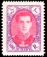 Iran 1956-57 100r magenta and reddish-lilac unmounted mint.