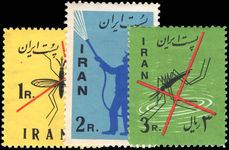 Iran 1960 Anti-Malaria lightly mounted mint.