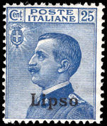 Lipso 1912-21 25c blue unmounted mint.