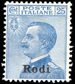 Rodi 1912-21 25c blue unmounted mint.