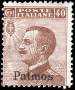 Patmos 1912-21 40c brown unmounted mint.