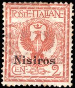 Nisiros 1912-21 2c orange-brown lightly mounted mint.