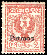 Patmos 1912-21 2c orange-brown lightly mounted mint.