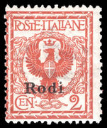 Rodi 1912-21 2c orange-brown unmounted mint.
