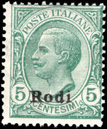 Rodi 1912-21 5c green unmounted mint.