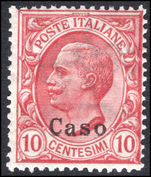 Caso 1912-21 10c rose-red unmounted mint.