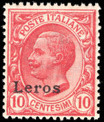 Leros 1912-21 10c rose-red unmounted mint.