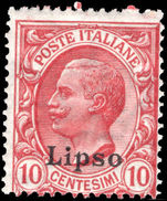 Lipso 1912-21 10c rose-red unmounted mint.