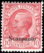Scarpanto 10c rose-red unmounted mint.