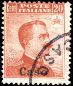 Caso 1912-21 20c orange no watermark fine used.