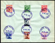 Karki 1912 set of 7 on fine CTO cover.