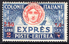 Eritrea 1926 2.50 on 2l Express lightly mounted mint.