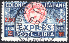 Libya 1927-36 2l50 on 2l on Express signed Bolaffi and Enzo Diena fine used. fine used.