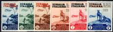 Somalia 1934 Colonnial Exhibition Air set lightly mounted mint.