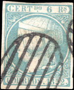 Spain 1852 6r pale blue extremely fine used.