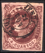 Spain 1862 4c brown on brown fine used.