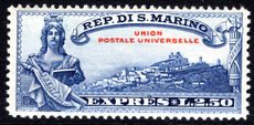 San Marino 1929 Express UPU fine lightly mounted mint.