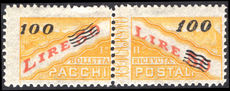 San Marino 1948 100l on 50l parcel post unmounted mint.