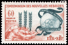 French New Hebrides 1963 Freedom From Hunger unmounted mint.