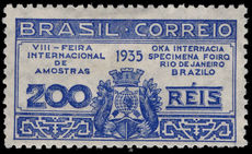 Brazil 1935 Sample Fair fine lightly mounted mint.