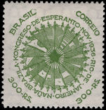 Brazil 1937 Esperanto fine lightly mounted mint.