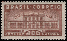 Brazil 1938 National Archives fine lightly mounted mint.