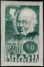Brazil 1938 Rowland Hill single from  lightly mounted mint.