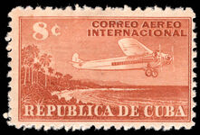 Cuba 1948 8c red-brown mounted mint.