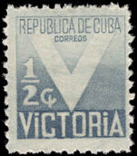 Cuba 1942 Victory grey mounted mint.