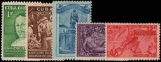 Cuba 1944 Discovery of America regular set mounted mint.