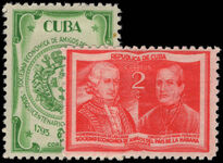 Cuba 1945 Economic Society of Friends mounted mint.
