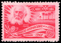 Cuba 1948 International Leprosy Relief Congress mounted mint.