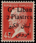 Lebanon 1924-25 2p on 45c red Pasteur mounted mint.