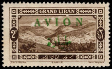 Lebanon 1925 (1st Mar) 2p Avion mounted mint.
