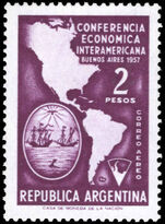 Argentina 1957 Economic Conference unmounted mint.