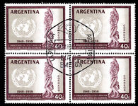 Argentina 1959 Human Rights first day block of 4.