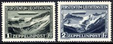 Liechtenstein 1931 Zeppelin set fine mint lightly hinged.