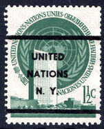 New York 1951 1½c blue-green pre-cancelled.