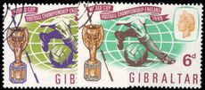 Gibraltar 1966 World Cup Football fine used.