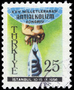 Turkey 1956 Anti-alcoholism fine used.