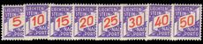 Liechtenstein 1928 Postage Due set mint lightly hinged