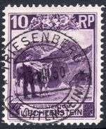Liechtenstein 1930 10rp Mountain Cattle perf 11  fine used