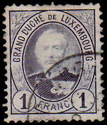 Luxembourg 1891-93 1fr perf 12½ fine used
