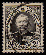 Luxembourg 1891-93 2½fr fine used