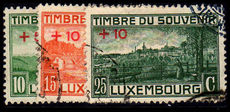 Luxembourg 1921 War Monument set very fine used