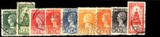 Netherlands 1923 Accession Set To 1g fine used no thins various perfs